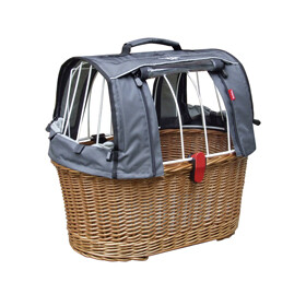 KlickFix Doggy Basket Plus Fix Bike Basket brown